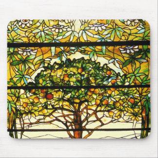 Tapis De Souris Arbre fruitier coloré par Louis Tiffany