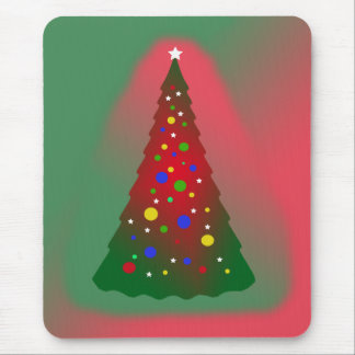Tapis De Souris Arbre vert rouge de Joyeux Noël