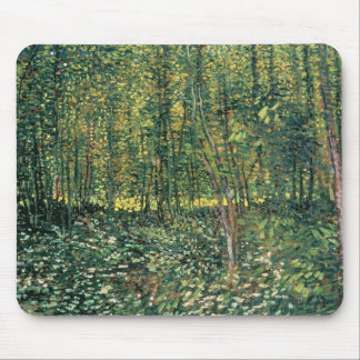 Tapis De Souris Arbres de Vincent van Gogh | et broussaille, 1887