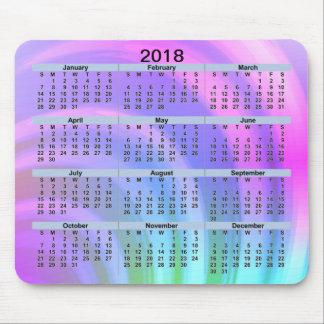 Tapis De Souris Arc-en-ciel abstrait Mousepad de 2018 calendriers