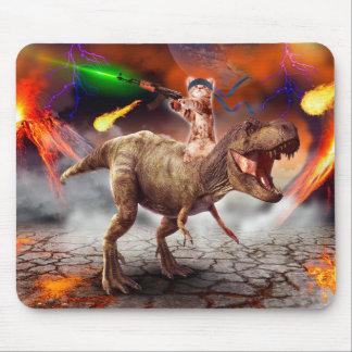 Tapis De Souris Armageddon de chat - chat de dinosaure - mauvais