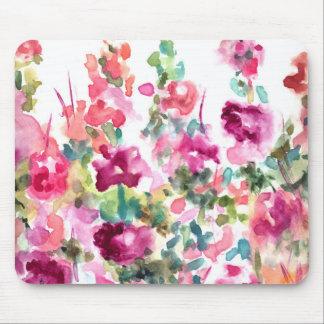 Tapis De Souris Arrière - plan abstrait rose de fleur d'aquarelle