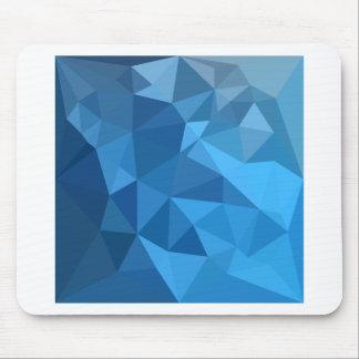 Tapis De Souris Arrière - plan de polygone d'abrégé sur bleu de