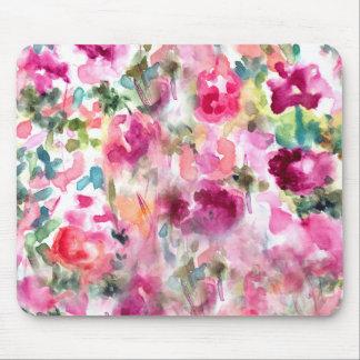 Tapis De Souris Arrière - plan floral d'aquarelle pourpre
