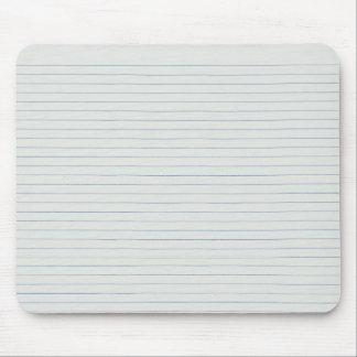 Tapis De Souris Arrière - plan rayé de papier d'école