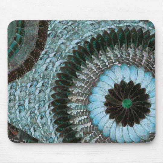 tapis de souris art africain mousepad d 39 aile de papillon bleus d. Black Bedroom Furniture Sets. Home Design Ideas