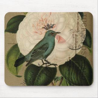 Tapis De Souris Art botanique français de camélia vintage chic