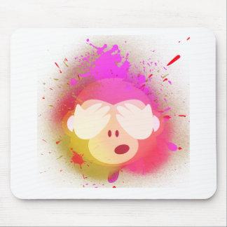 Tapis De Souris Art créatif superbe de peinture de jet d'Emoji de