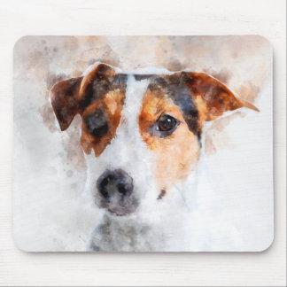 Tapis De Souris Art d'aquarelle de Jack Russell Terrier