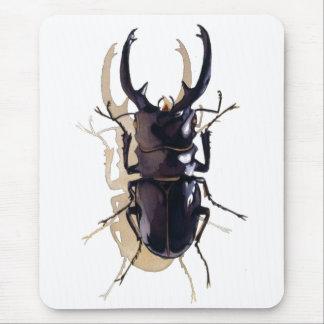 """Tapis De Souris Art d'aquarelle d'insecte """"de scarabée de mâle"""""""