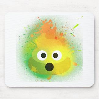 Tapis De Souris Art de peinture de jet de jaune de dunette d'Emoji
