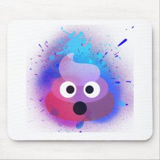 Tapis De Souris Art de peinture de jet d'Emoji de dunette