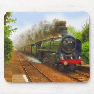 Tapis De Souris Art ferroviaire britannique IV de train de vapeur