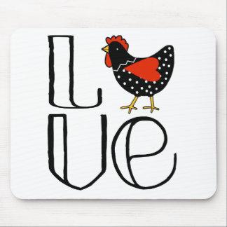 Tapis De Souris Art frais d'amour de poulet