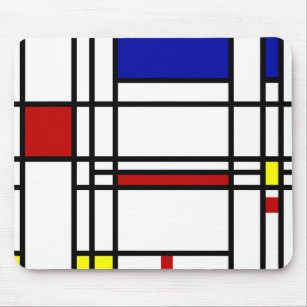 tapis de souris piet mondrian. Black Bedroom Furniture Sets. Home Design Ideas