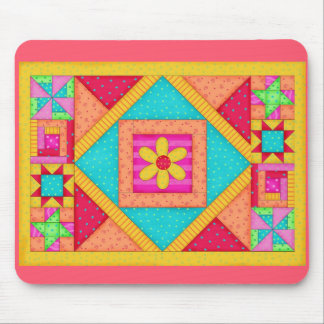 Tapis De Souris Art Mousepad d'édredon de patchwork