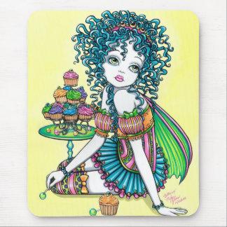 Tapis De Souris Art Mouspad de gâteau de tasse féerique de
