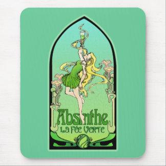 Tapis De Souris Art Nouveau d'absinthe