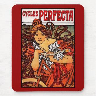 Tapis De Souris Art vintage Alfons Mucha de Mousepad 1902 cycles