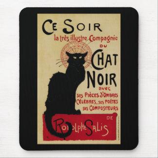 Tapis De Souris Art vintage Nouveau, Le Chat Noir