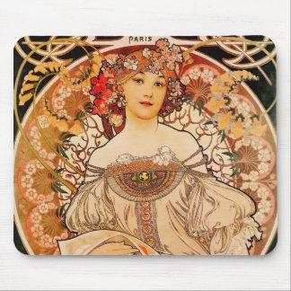 Tapis De Souris Art vintage Nouveau Mucha