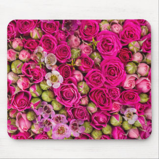 Tapis de souris assez rose d'image de fleur