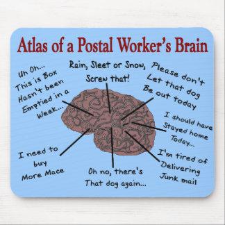 Tapis De Souris Atlas d'un cerveau de travailleur postal