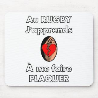 Tapis De Souris Au Rugby, j'apprends à me faire plaquer