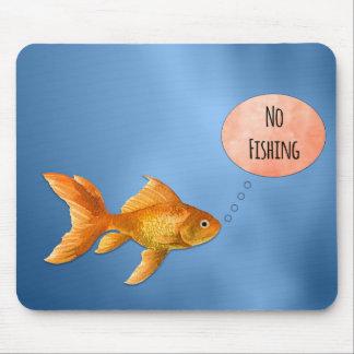 Tapis De Souris Aucun poisson rouge Mousepad de pêche