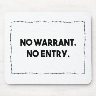Tapis De Souris Aucune garantie. Aucune entrée. Police de barbelé