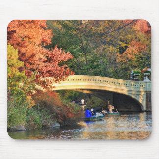 Tapis De Souris Automne dans le Central Park : Chapeaux en paille