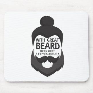 Tapis De Souris Avec la grande barbe vient la grande chemise de