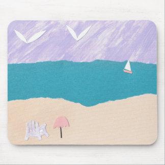 Tapis de souris avec la scène de plage