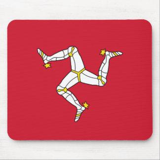 Tapis de souris avec le drapeau d'île de Man