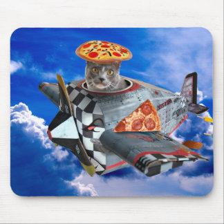 Tapis De Souris Avion de chat - chat de vol - chat pilote