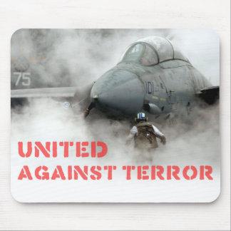 Tapis De Souris Avions d'avion de chasse : Uni contre la terreur
