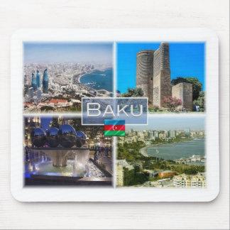 Tapis De Souris AZ Azerbaïdjan - Bakou - première tour -