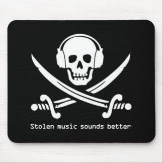 Tapis De Souris Baie de pirate - la musique volée retentit un