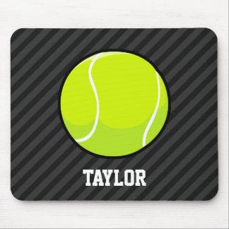 Tapis De Souris Balle de tennis sur les rayures noires et