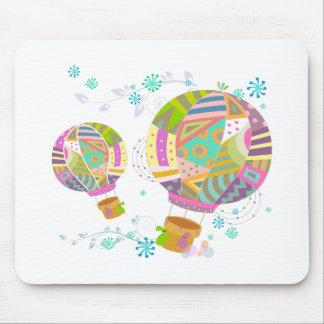 Tapis De Souris Ballon coloré heureux d'air chaud