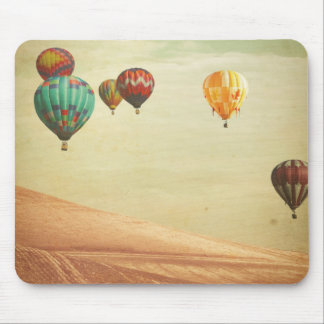 Tapis De Souris Ballons à air chauds dans le ciel
