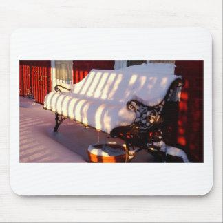 Tapis De Souris Banc couvert par neige