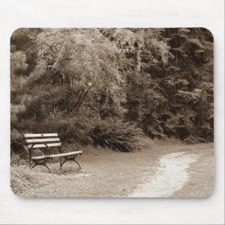 Tapis De Souris banc dans le sepiabench de parc