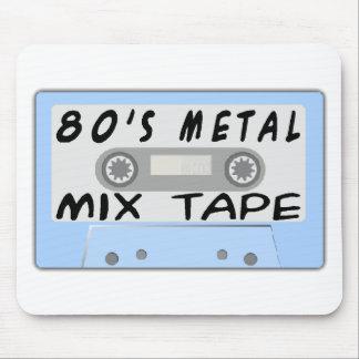 Tapis De Souris bande de mélange en métal 80s
