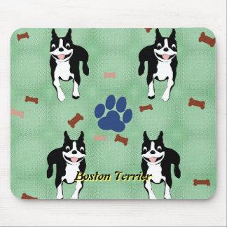 Tapis De Souris Bande dessinée de Boston Terrier