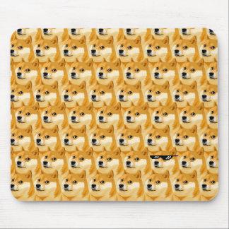 Tapis De Souris Bande dessinée de doge - texture de doge - shibe -