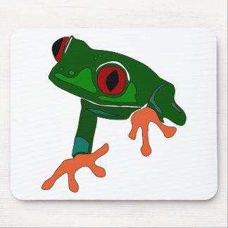Tapis De Souris Bande dessinée de grenouille verte