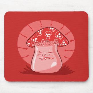 Tapis De Souris bande dessinée drôle de champignon fâché