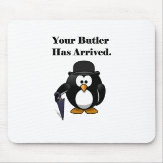 Tapis De Souris Bande dessinée mignonne de pingouin de maître