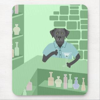 Tapis De Souris Barre noire de labrador retriever Martini
